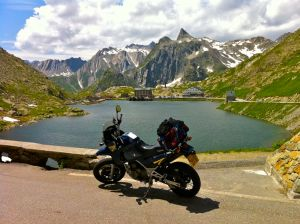 Colle del Gran San Bernardo, 85 miles from Aosta, Italy through Switzerland to Chamonix, France