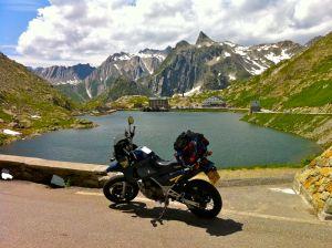 Colle del Gran San Bernardo, 85 miles from Aosta, Italy through Switzerland to Chamonix, France